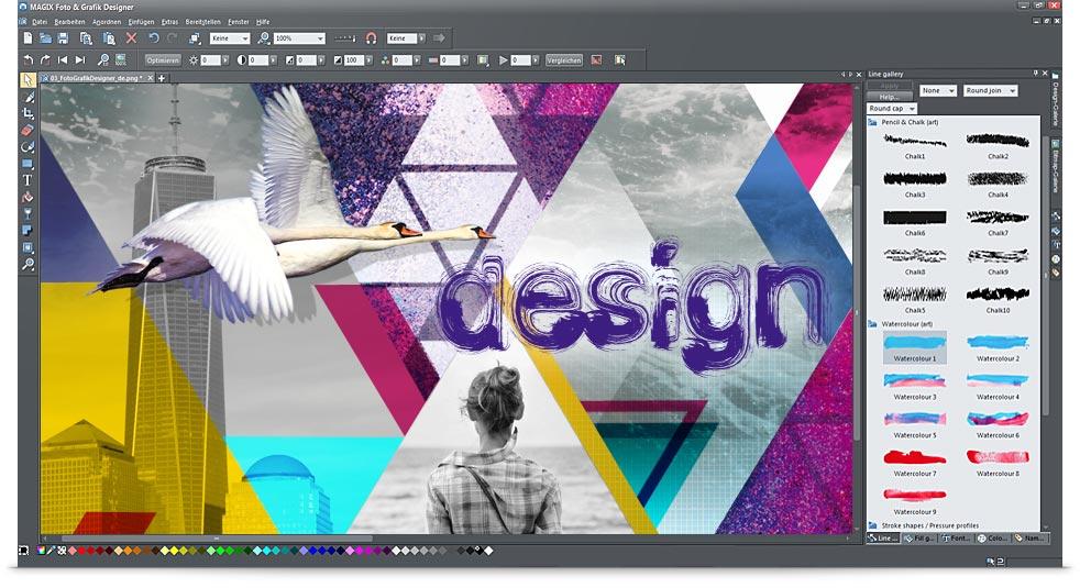 Benutzeroberfläche vom Foto und Grafik Designer